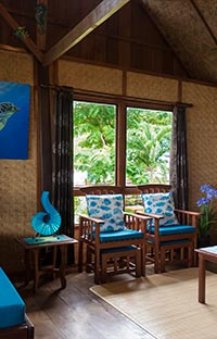 Inside the Beach Cottage lounge room